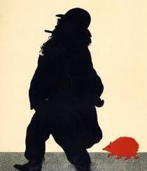 Brahms, J. c. & the Red Hedgehog. German composer. On the way to the Red Hedgehog by Otto Bohler. 'Johannes Brahms auf dem Wege zum 'roten Igel'.